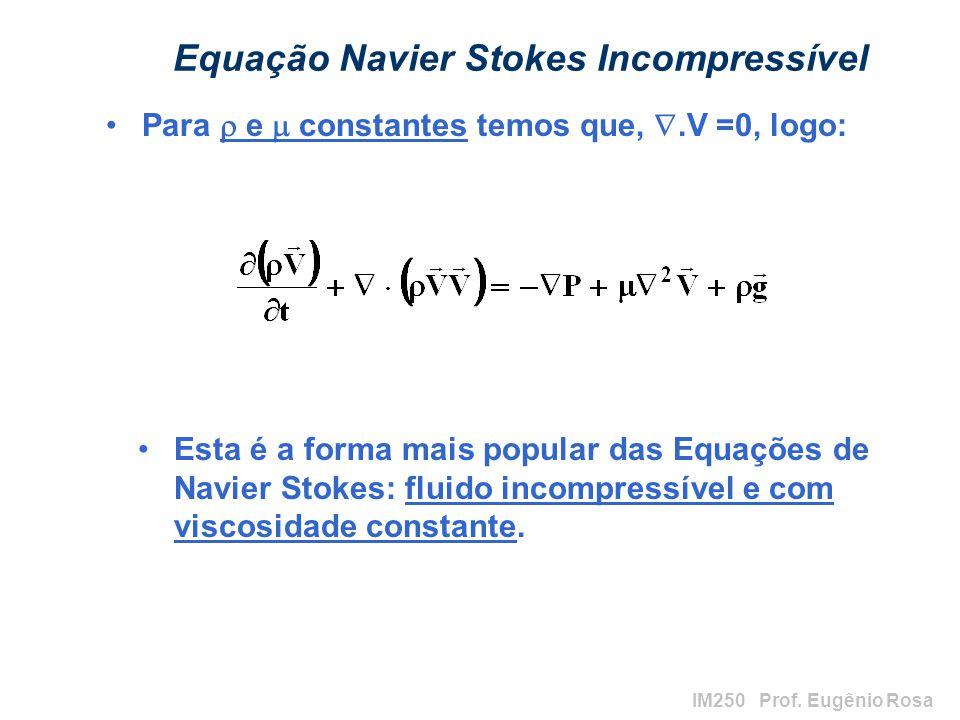 Equação Navier Stokes Incompressível