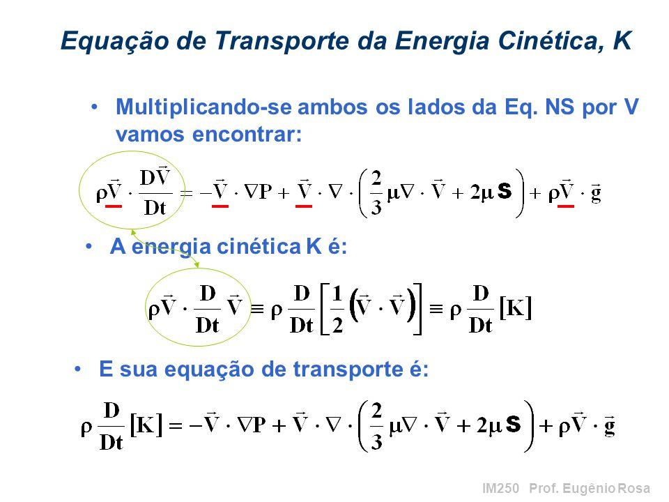 Equação de Transporte da Energia Cinética, K