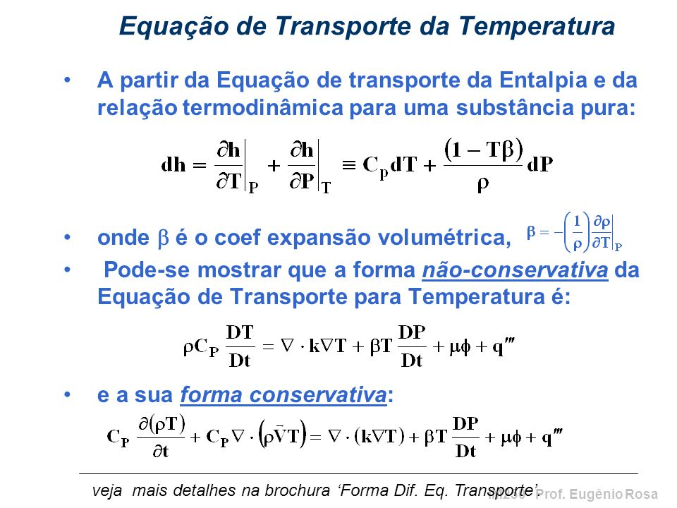 Equação de Transporte da Temperatura