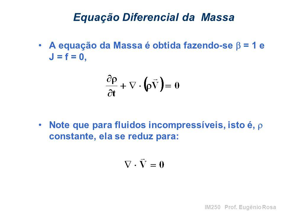 Equação Diferencial da Massa