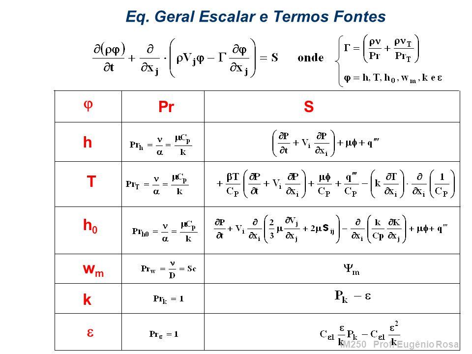 Eq. Geral Escalar e Termos Fontes