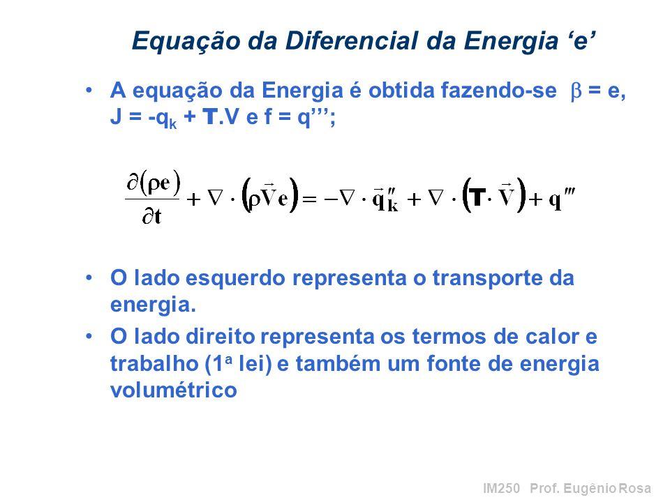 Equação da Diferencial da Energia 'e'
