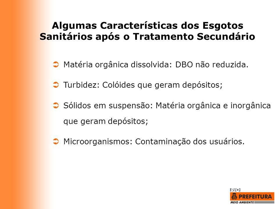 Algumas Características dos Esgotos Sanitários após o Tratamento Secundário
