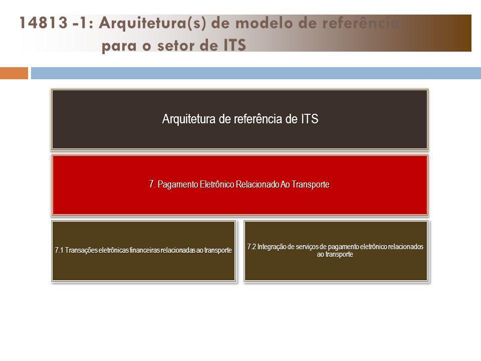 14813 -1: Arquitetura(s) de modelo de referência para o setor de ITS