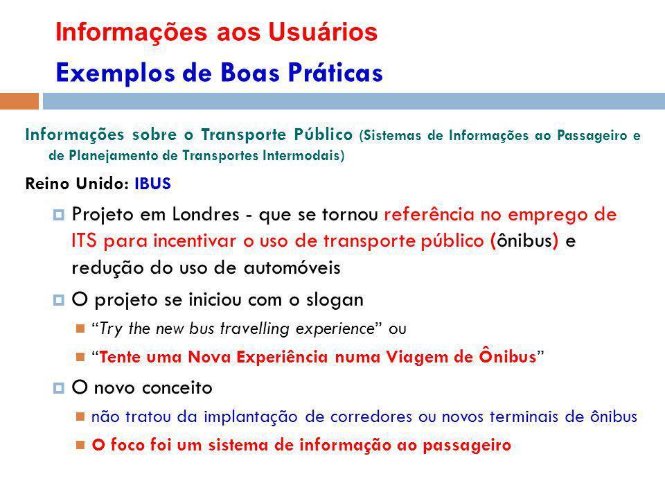 Informações aos Usuários Exemplos de Boas Práticas