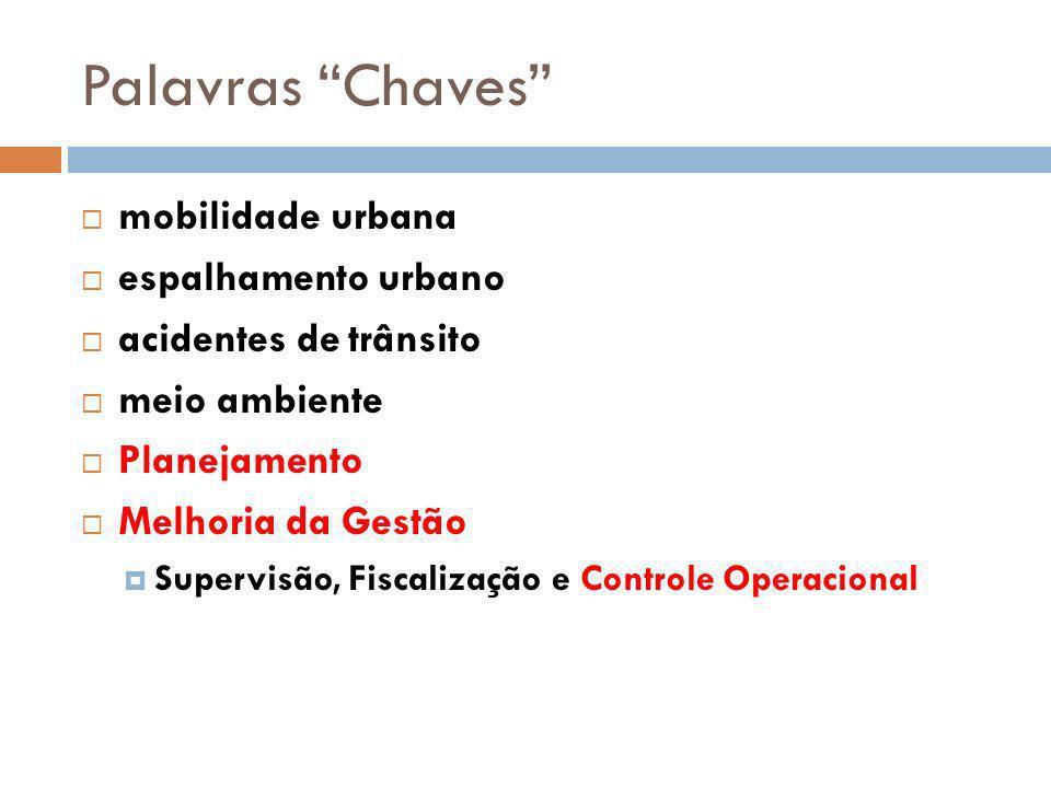 Palavras Chaves mobilidade urbana espalhamento urbano