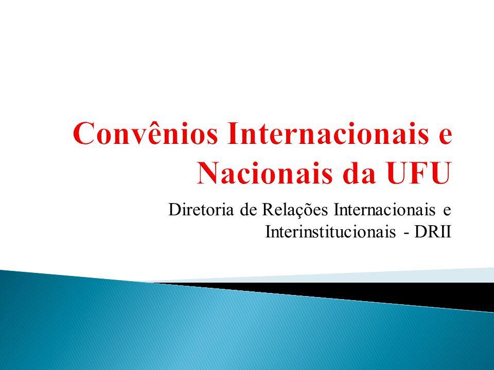 Convênios Internacionais e Nacionais da UFU