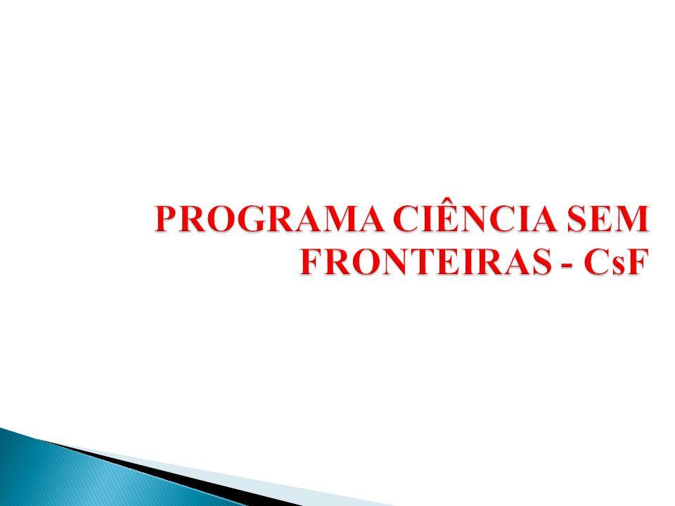 PROGRAMA CIÊNCIA SEM FRONTEIRAS - CsF