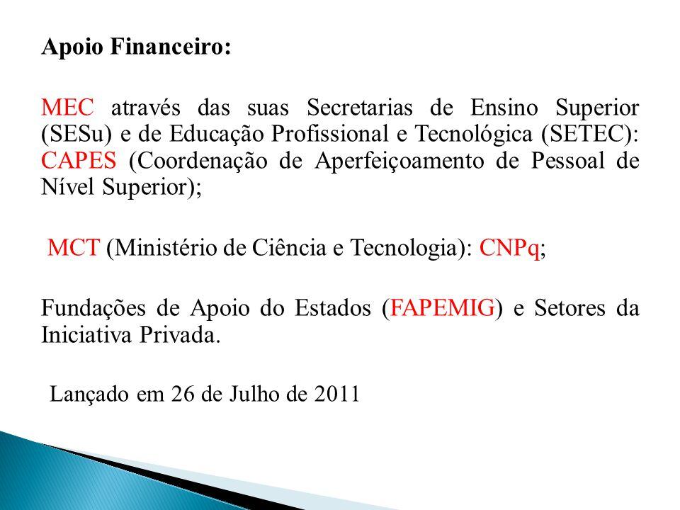 MCT (Ministério de Ciência e Tecnologia): CNPq;