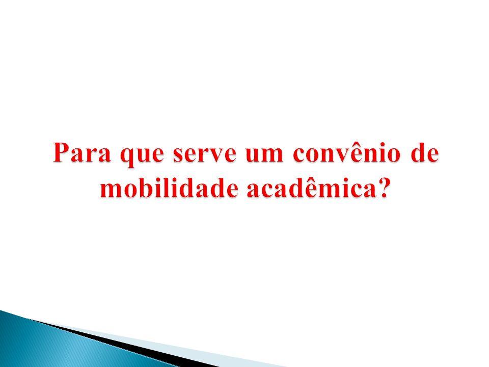 Para que serve um convênio de mobilidade acadêmica