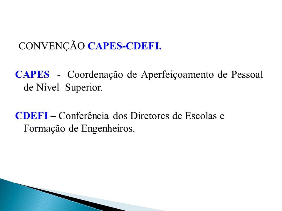 CONVENÇÃO CAPES-CDEFI