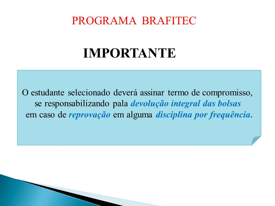 IMPORTANTE PROGRAMA BRAFITEC