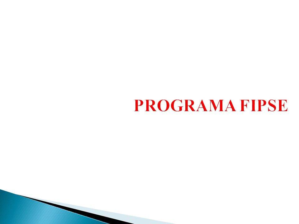 PROGRAMA FIPSE