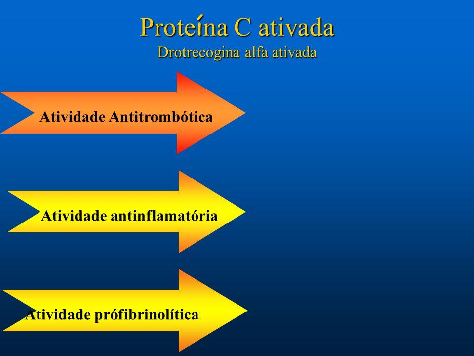 Proteína C ativada Drotrecogina alfa ativada Atividade Antitrombótica