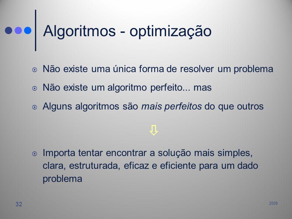 Algoritmos - optimização