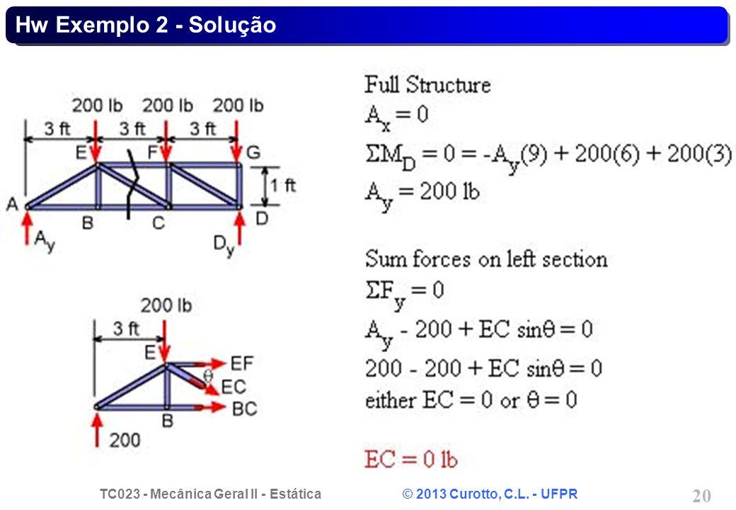 Hw Exemplo 2 - Solução