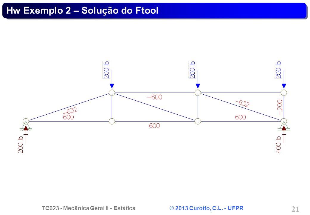 Hw Exemplo 2 – Solução do Ftool