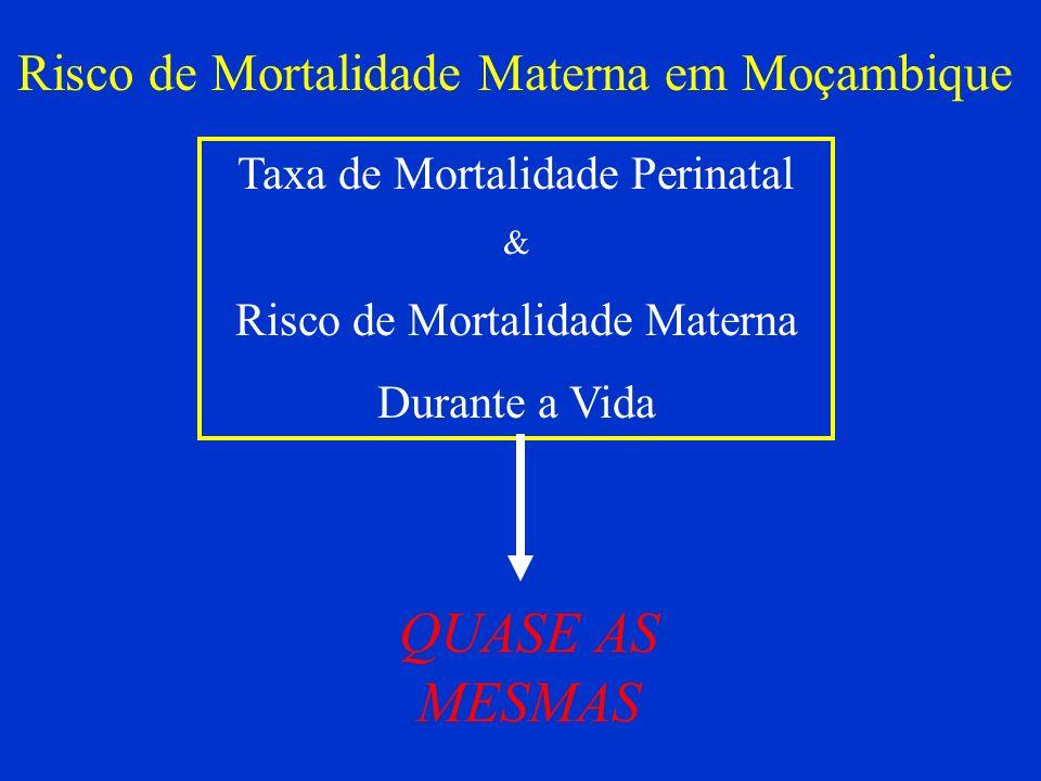 QUASE AS MESMAS Risco de Mortalidade Materna em Moçambique