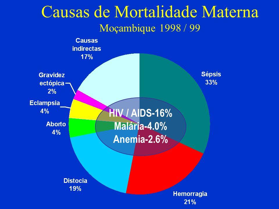 Causas de Mortalidade Materna Moçambique 1998 / 99