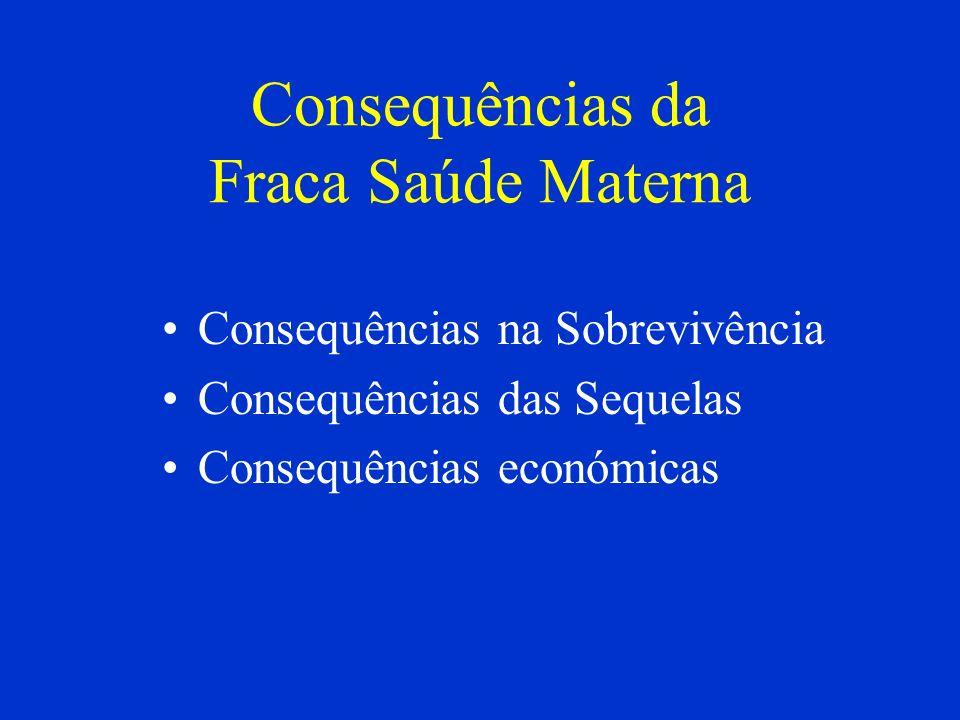 Consequências da Fraca Saúde Materna