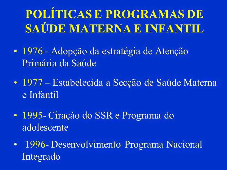 POLÍTICAS E PROGRAMAS DE SAÚDE MATERNA E INFANTIL