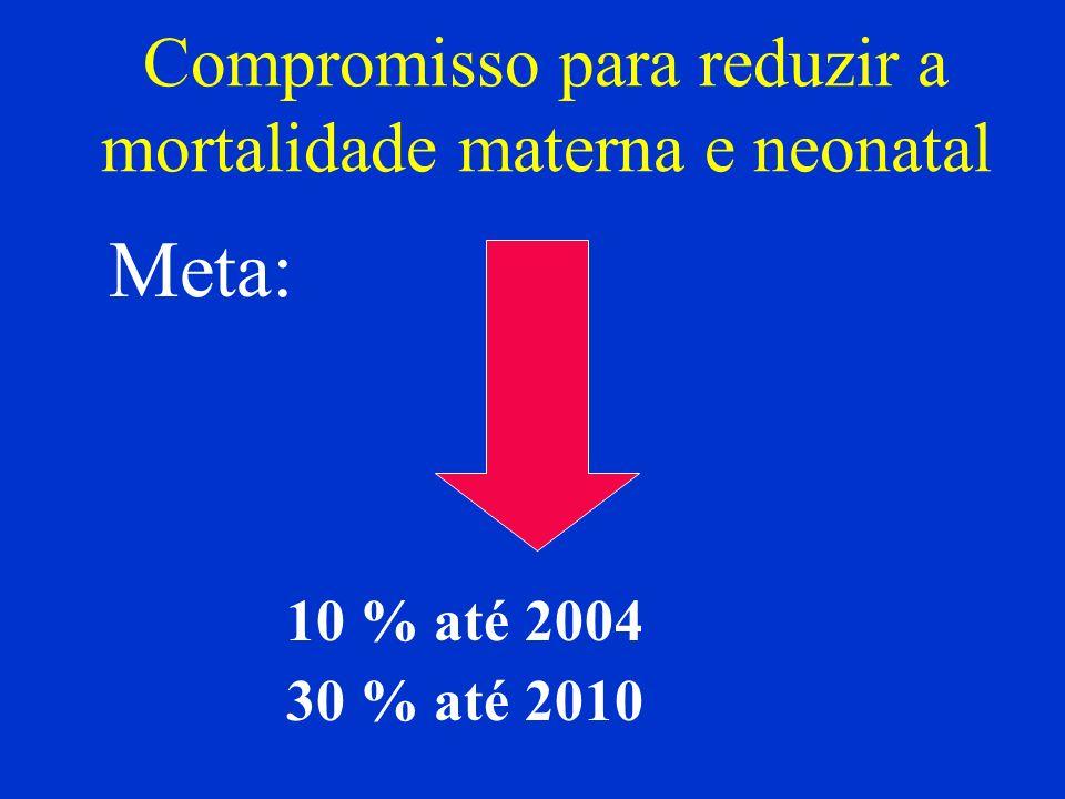 Compromisso para reduzir a mortalidade materna e neonatal