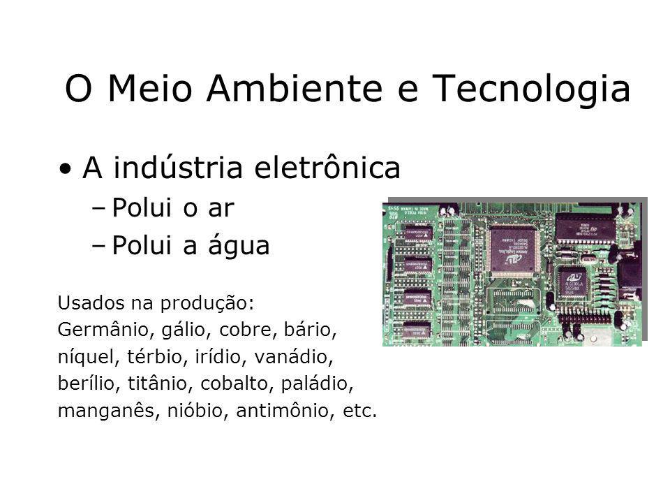 O Meio Ambiente e Tecnologia