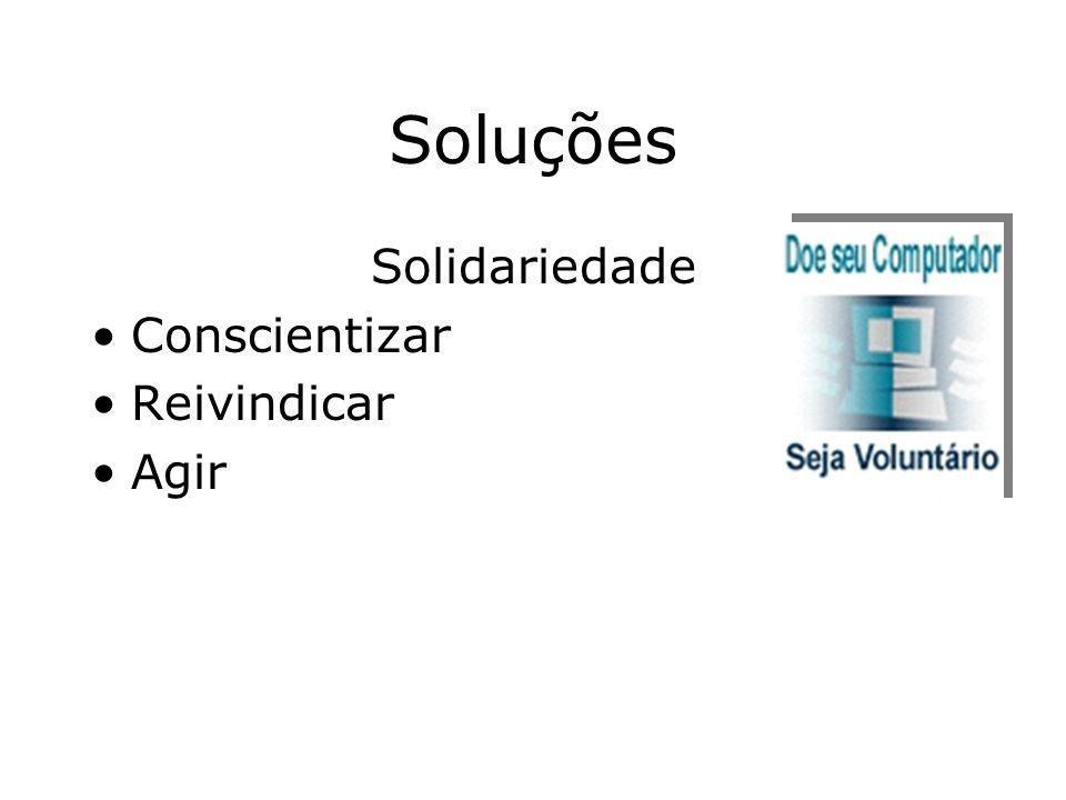 Soluções Solidariedade Conscientizar Reivindicar Agir