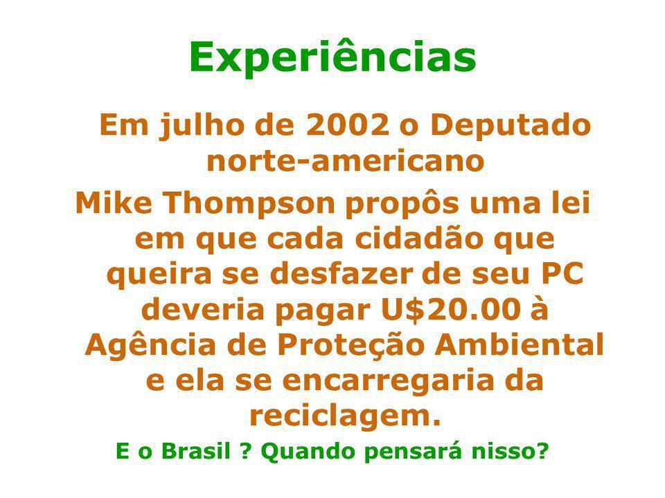 E o Brasil Quando pensará nisso