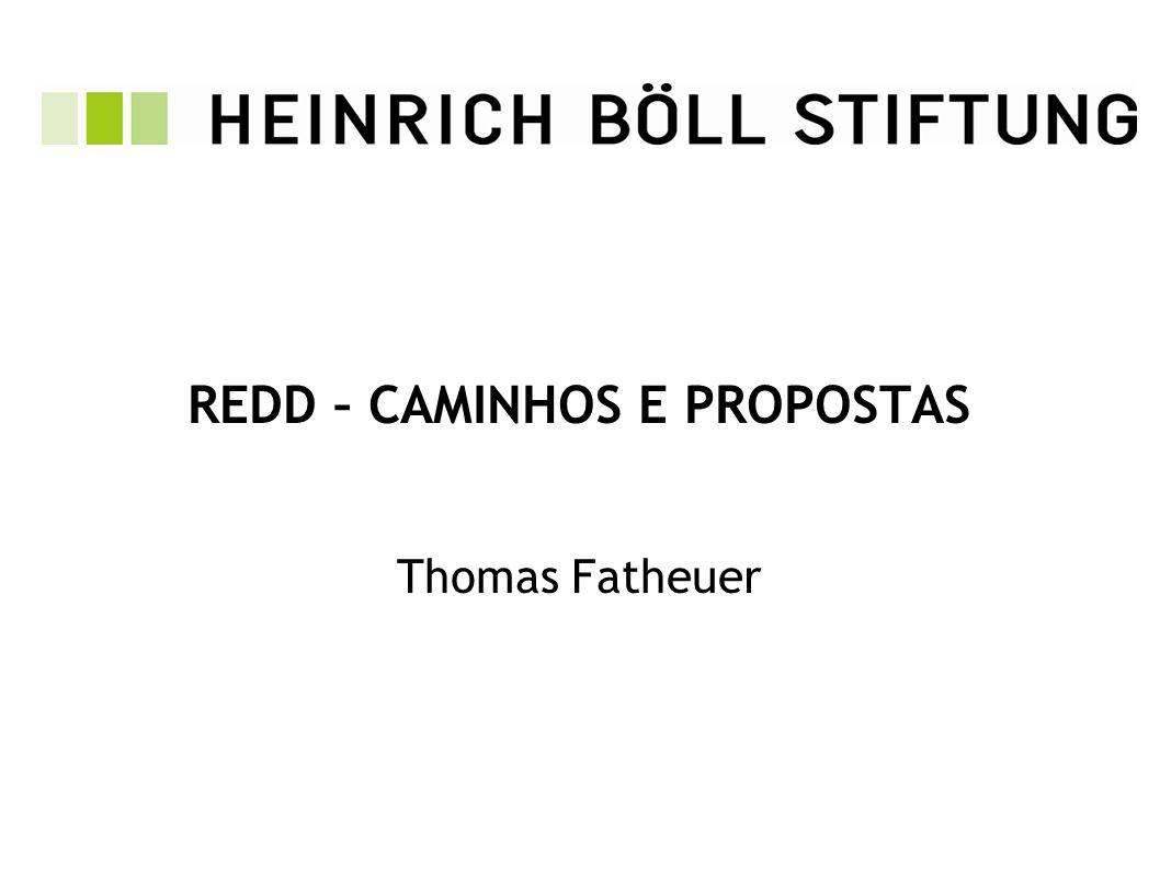 REDD – CAMINHOS E PROPOSTAS Thomas Fatheuer