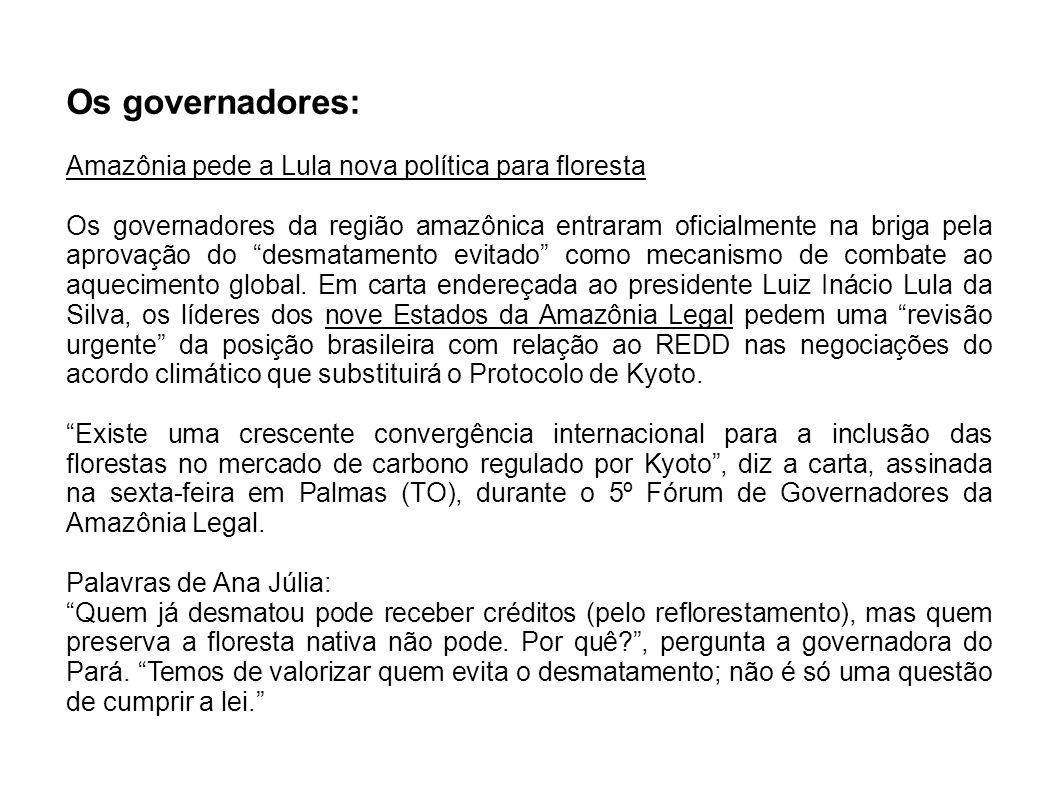 Os governadores: Amazônia pede a Lula nova política para floresta