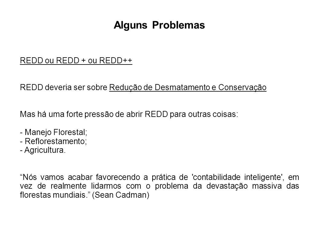 Alguns Problemas REDD ou REDD + ou REDD++