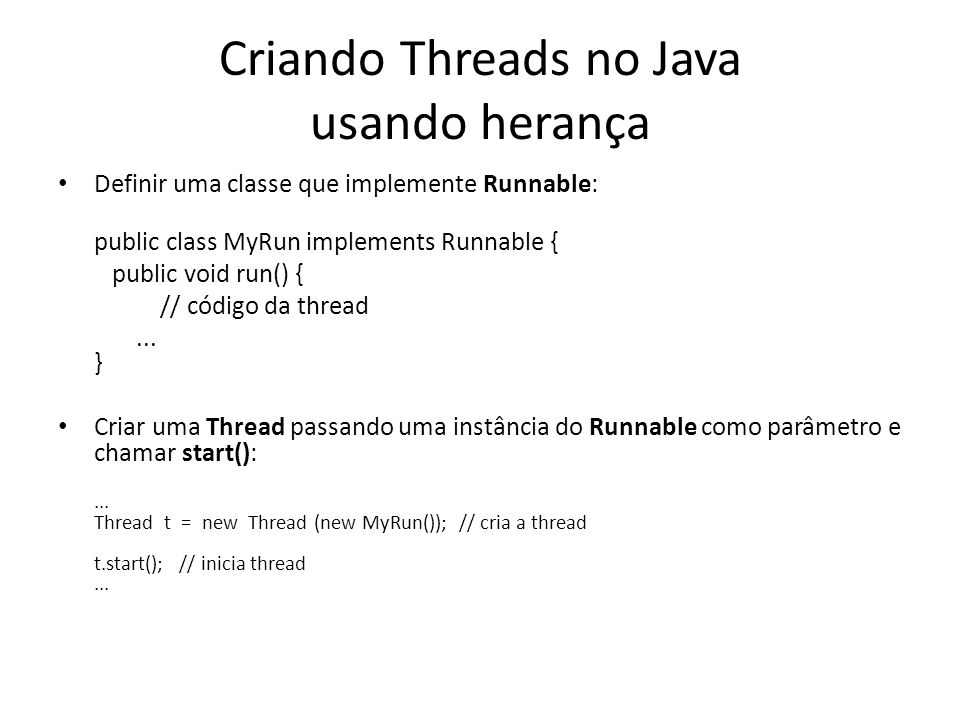 Criando Threads no Java usando herança