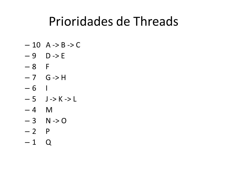 Prioridades de Threads