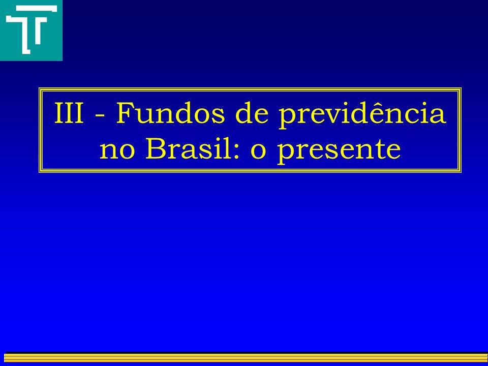 III - Fundos de previdência no Brasil: o presente