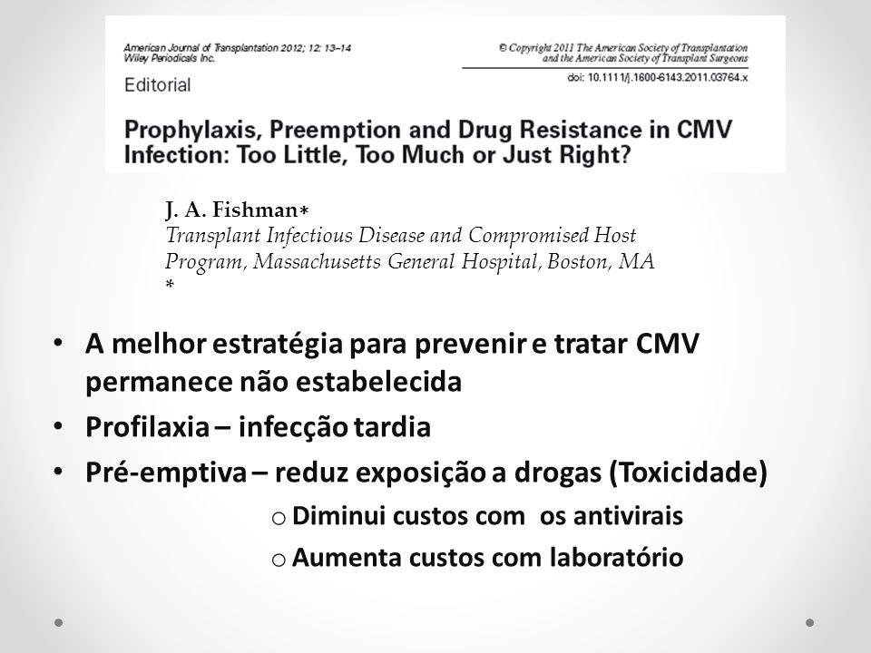 Profilaxia – infecção tardia