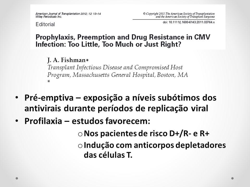 Profilaxia – estudos favorecem: