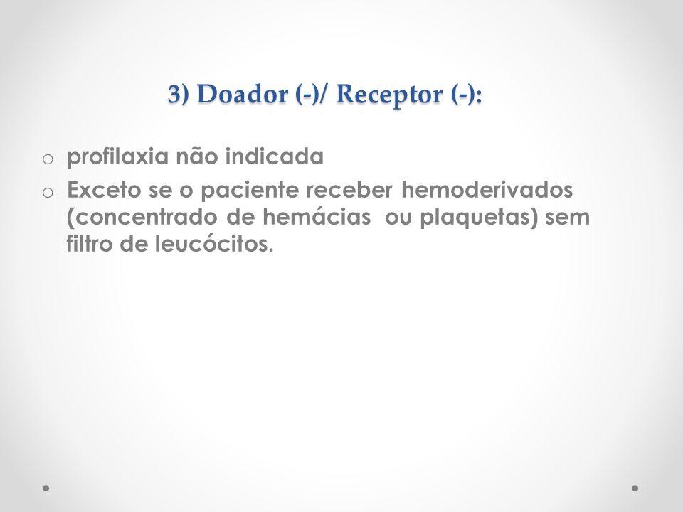 3) Doador (-)/ Receptor (-):