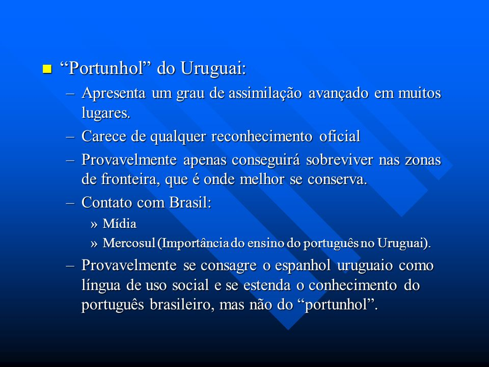 Portunhol do Uruguai: