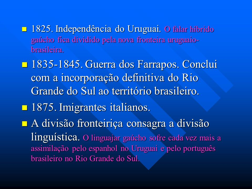 1825. Independência do Uruguai