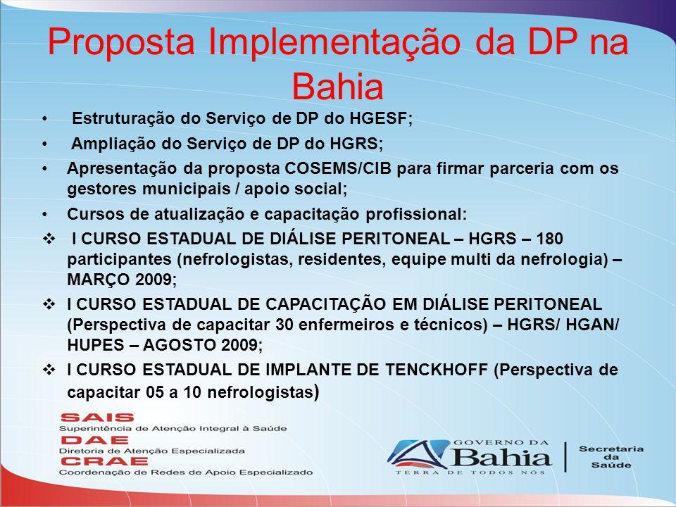Proposta Implementação da DP na Bahia