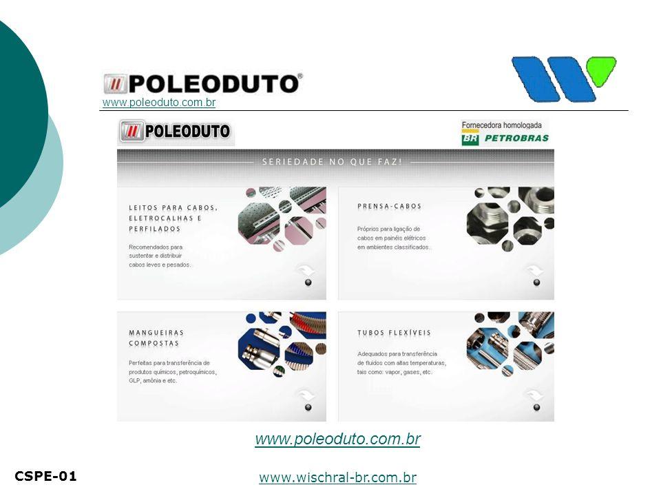 www.poleoduto.com.br CSPE-01 www.wischral-br.com.br