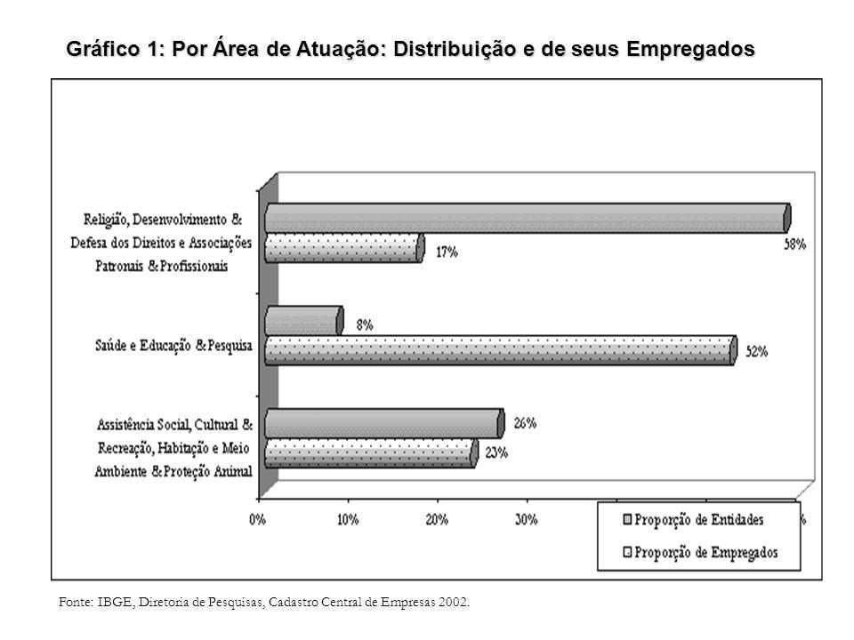 Gráfico 1: Por Área de Atuação: Distribuição e de seus Empregados