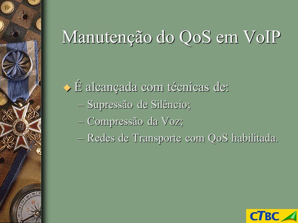 Manutenção do QoS em VoIP