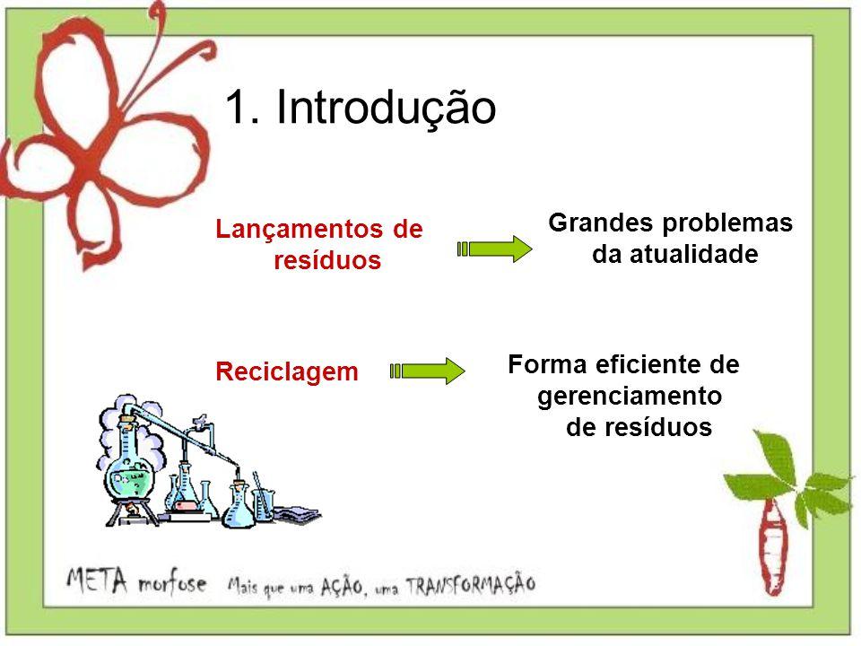 1. Introdução Grandes problemas Lançamentos de da atualidade resíduos