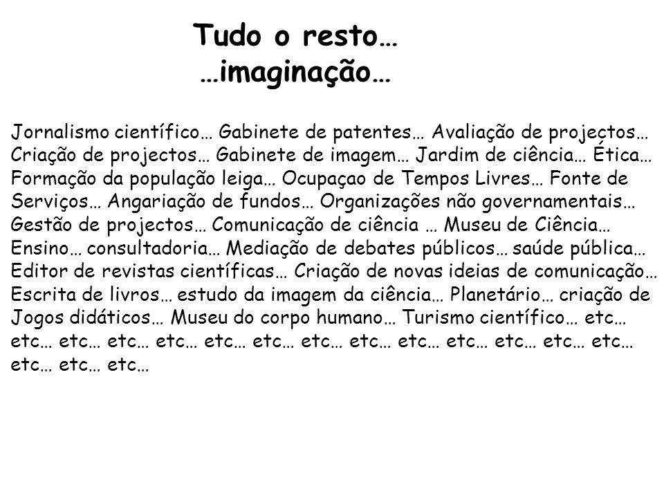 Tudo o resto… …imaginação…
