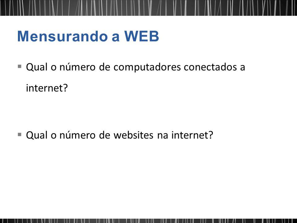 Mensurando a WEB Qual o número de computadores conectados a internet