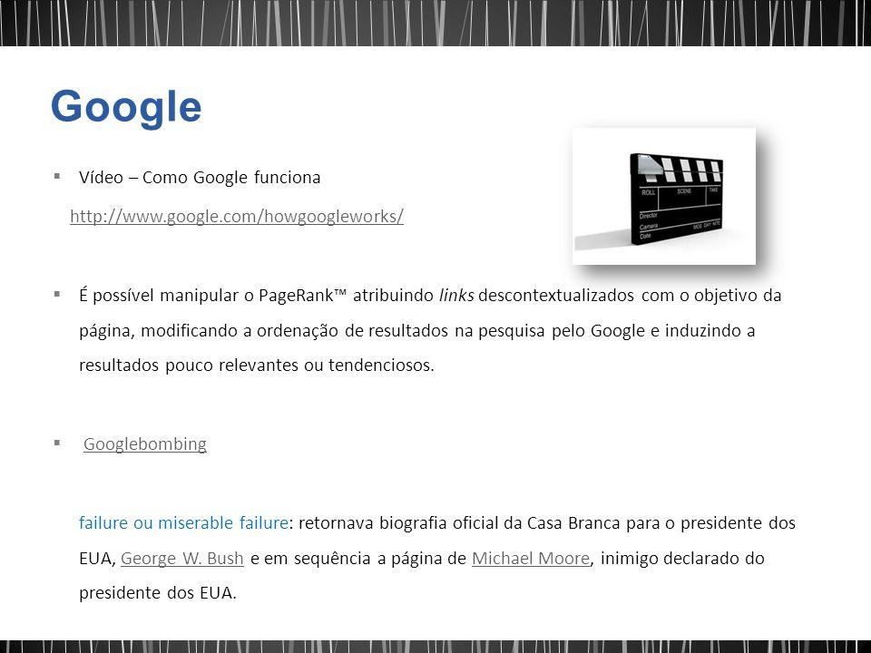 Google Vídeo – Como Google funciona