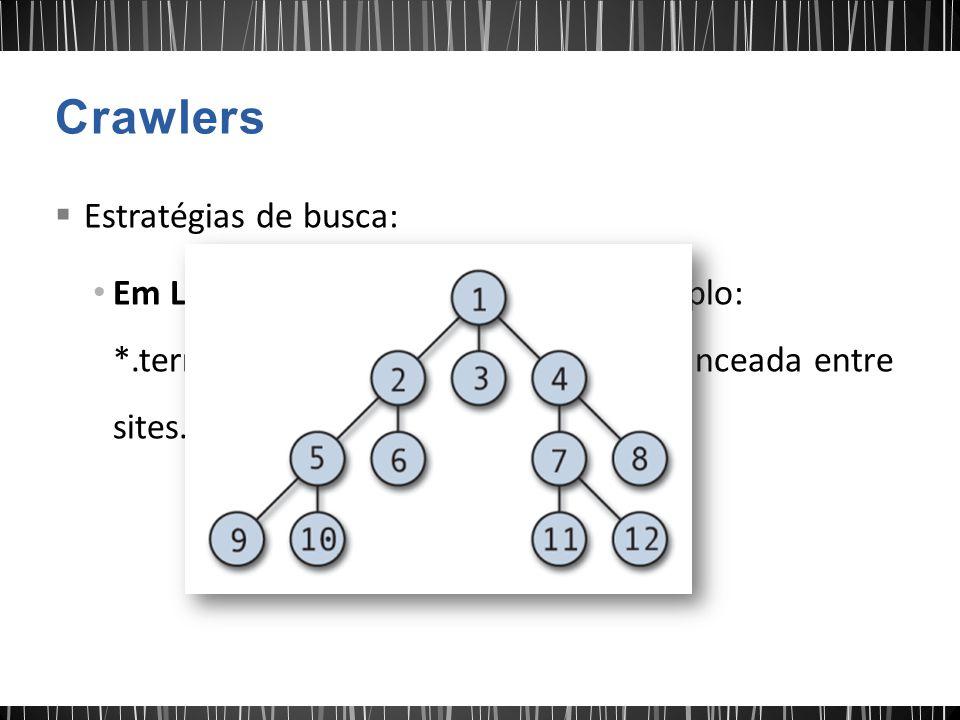 Crawlers Estratégias de busca: