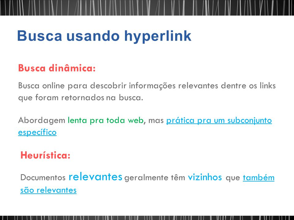 Busca usando hyperlink